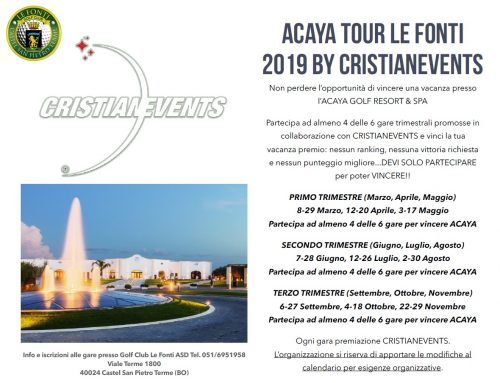 ACAYA TOUR LE FONTI 2019 by CRISTIANEVENTS