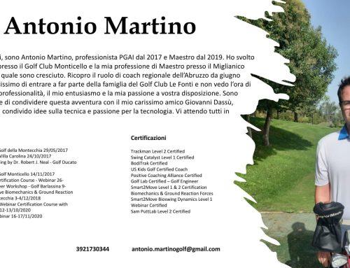 ANTONIO MARTINO NUOVO PRO DELLA GOLF ACADEMY LE FONTI